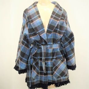 Vintage Stage West By Prior Poncho Cape Size 34